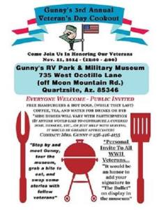 GUNNYS VETERANS DAY 2014
